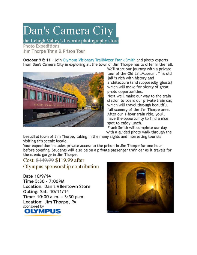 Dans Camera & Olympus Jim Thorpe 2014
